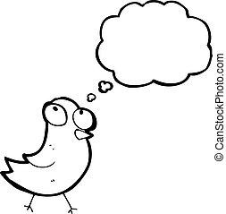 little bird cartoon