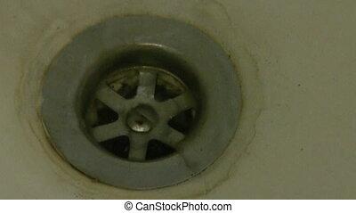 Dirty bath sink