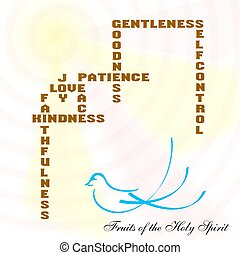 fruits of the holy spirit graphically displayed. [galatians...