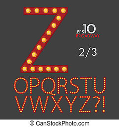 2-3 Set of Broadway Vector Alphabet O-Z Editable