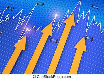 Business market chart - Financial direction as business...