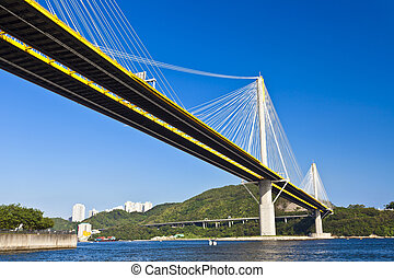 Bridge in Hong Kong at day