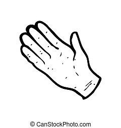 open hand symbol