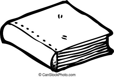 closed book cartoon