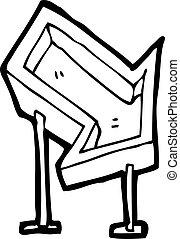 cartoon arrow sign