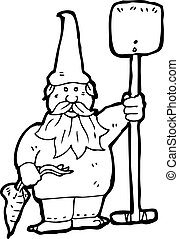 cartoon garden gnome