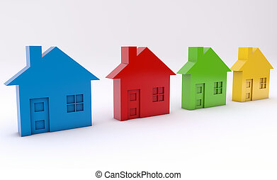 Colorful houses as a abstract background as a abstract...
