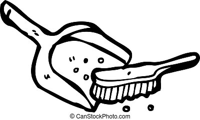 dustpan and brush cartoon