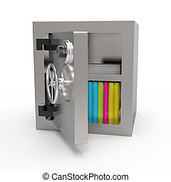Data security concept - Data security in bank vault