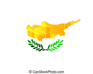 Cyprus flag - Flag of , national symbol illustration clipart