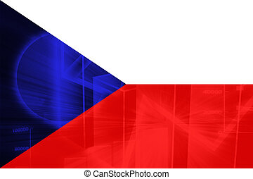 Czechoslovakia flag - Flag of , national symbol illustration...
