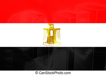 Flag of Egypt, national country symbol illustration