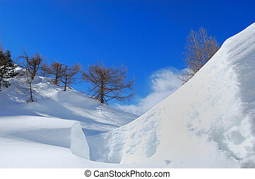 Winter in Italian alps - Winter landscape of Italian alps...