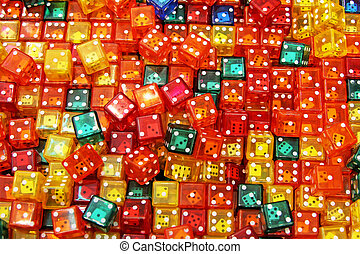 Color dices - Background texture made from colorful dice...