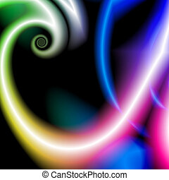 abstract rainbow small spiral