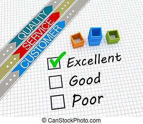 Satisfaction rating - Customer service evaluation for...
