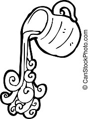 cartoon pouring water jug