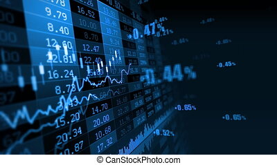 Stock market 077 - Stock market trend of animation