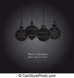 christmas balls cards