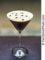 espresso martini alcoholic cocktail drink - coffee martini...