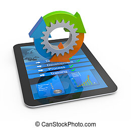 Education and learning concept - Computer tablet concept...