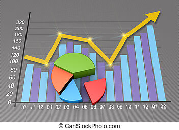Business marketing - Concept image planning, finances and...
