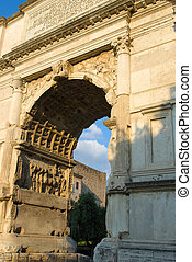 The Arch of Titus, Rome, Italy - Arch of Titus on the Via...