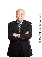 Senior asian businessman - An isolated shot of a senior...