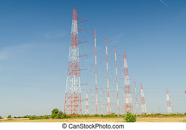 High-Voltage Power Towers - High-Voltage Power Transmission...