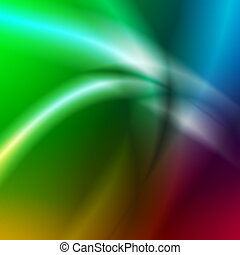 abstract light lines over rainbow background - abstract...