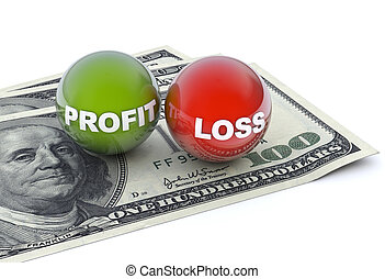 Profit and loss - Business concept, profit and loss