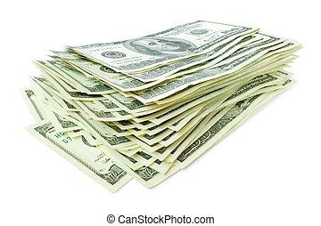 money. stack of hundreds dollars
