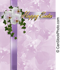 Easter Border orchids and ivy - Image and illustration...