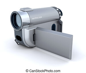 digital video camera - 3d render of a consumer compact video...