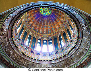 llinois Dome - Interior dome of the State of Illinois...
