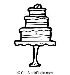 cartoon cake on cake stand