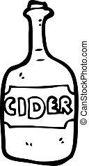 cartoon cider bottle