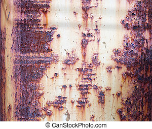 Rusty old metal surface