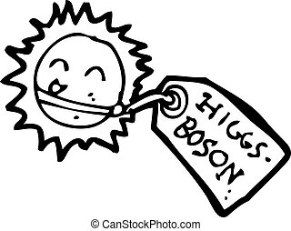 cartoon higgs boson particle