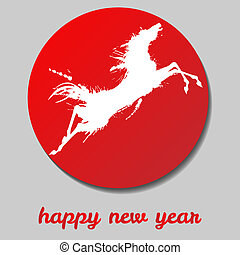 Jumping horse Happy new year