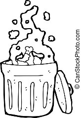 smelly rubbish bin cartoon