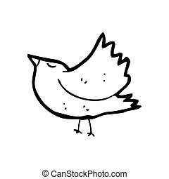 cartoon blackbird