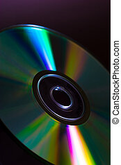 CD - Full light spectrum on a cd quarter