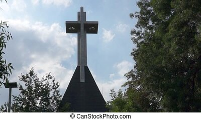Large cross in Romania