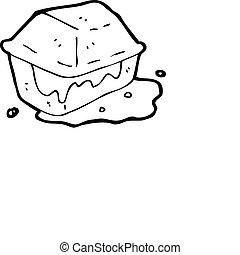 greasy junk food cartoon