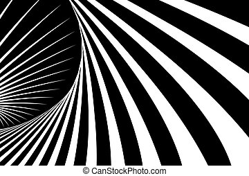 Abstract op art background. Vector art.
