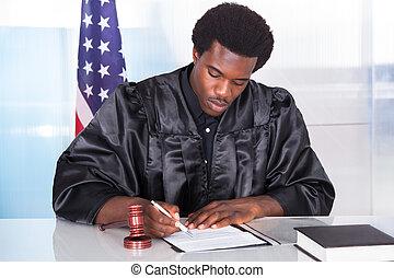 Portrait Of Male Judge - Portrait Of Happy Male Judge...