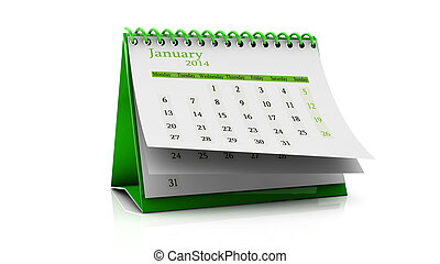 January 2014 - Design of a calendar month of january 2014 in...