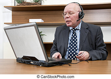 Company Director - A company director listening to...