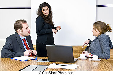 Office Scene - An office scene comprising of staff...